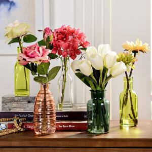 奇居良品 家饰摆件客厅餐桌茶几浴室绢花假花仿真花整体花艺套装
