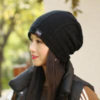 帽子女韩版潮百搭 加厚保暖时尚护耳针织毛线帽