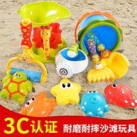 儿童沙滩玩具大号宝宝玩沙铲子沙漏工具小孩戏水挖沙子桶组合套装