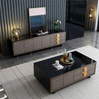美式轻奢电视柜茶几组合后现代简约样板房家具卧室电视柜主卧高款