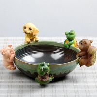 创意多肉花盆树脂花宠 肉肉花盆动物挂件 陶瓷盆景花器DIY