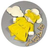 男女宝宝冬装0-1岁儿童抓绒3-6个月婴儿加厚大衣棉袄外套冬季