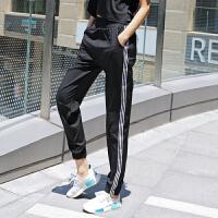 宽松运动裤女收口束脚跑步长裤速干透气训练健身裤学生休闲裤