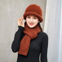 羊毛呢帽子女韩版卷边蝴蝶结盆帽休闲保暖礼帽中老年妈妈帽