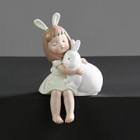 创意客厅小女孩摆件客厅家居桌面装饰品结婚礼物礼品童话人物摆饰