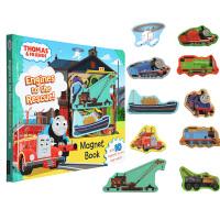 托马斯和他的朋友们 Thomas and Friends英文原版 Engines to the Rescue! 磁铁游