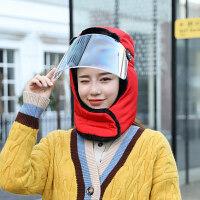 帽子女秋冬天帽韩版可爱户外骑车防风保暖帽男儿童面罩东北帽新品