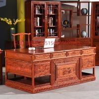 中式实木办公桌大气总裁桌书桌台式电脑桌榆木大班台仿古老板桌 否