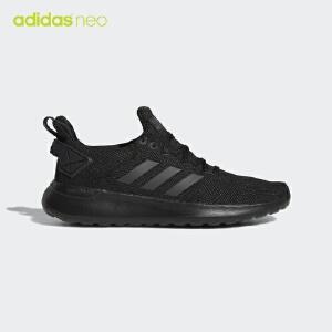 adidas neo阿迪休闲2018新款男子 LITE RACER 网面透气黑白跑步休闲鞋AC7828