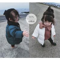宝宝羽绒服女17新款冬装婴幼儿童中长款白鸭绒小女孩保暖外套