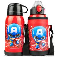 迪士尼儿童带吸管两用保温杯幼儿园宝宝小学生水壶大容量不锈钢杯