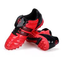新款透气足球鞋男女中小学生小孩儿童防滑碎钉ag比赛训练运动鞋人 红色 26005碎钉两杆红