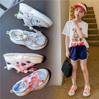 女童运动鞋夏季镂空男童老爹鞋子儿童网面透气网鞋凉鞋
