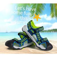 七波辉凉鞋 夏季儿童凉鞋小中大童沙滩凉鞋男童运动凉鞋包头凉鞋