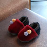 秋冬棉拖鞋女韩版女童男童子地板鞋包跟保暖家居鞋室内防滑