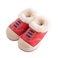 室内防水可爱防滑保暖宝宝棉拖鞋1-3岁2幼儿男女童pu皮高包跟