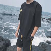 短袖T恤男夏季2018新款男士套�b�n版潮�W生��松T恤�杉�套