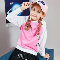 【3件6折】【爱宠大机密IP款】小猪班纳童装女童长袖t恤秋装新款儿童套头衫