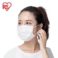 日本爱丽思一次性口罩三层加厚白色女口覃防尘透气民用普通现发货囗罩