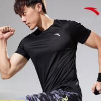 安踏短袖男t恤 2020夏季新款运健身跑步透气速干休闲圆领短袖T恤95927141