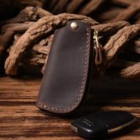 皮手工皮汽车钥匙包男女式通用真皮拉链头层复古锁匙包创意