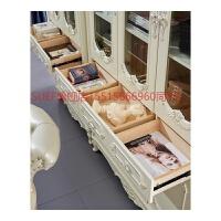 欧式书柜两门三门书架柜法式书房家具白色雕花书柜G2 0.6米以下宽