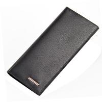 男士钱包纯色创意生皮皮夹夹子横款大钞夹日韩卡位卡钱包大