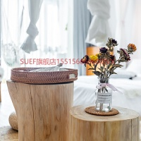 大木桩树桩木茶几大尺寸木墩子树墩边几异形床头柜旧木头边几