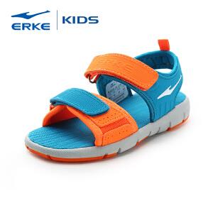 【低至2.5折 2件再8折】鸿星尔克童鞋新款儿童运动凉鞋男童露趾凉鞋小学生沙滩鞋