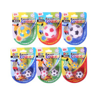 一正足球橡皮可爱小学生卡通足球橡皮擦可拆卸玩具儿童小礼品奖品 颜色随机