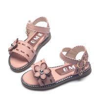 女童凉鞋4-5-6岁夏季中大童儿童鞋公主鞋平底魔术贴