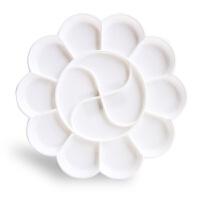 得力9403调色盘 塑料 梅花调色盘 丙烯水粉水彩纺织颜料调色碟