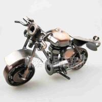 生日礼物送朋友 铁艺工艺品摩托车模型摆件创意学生生日礼物手工家居装饰A17