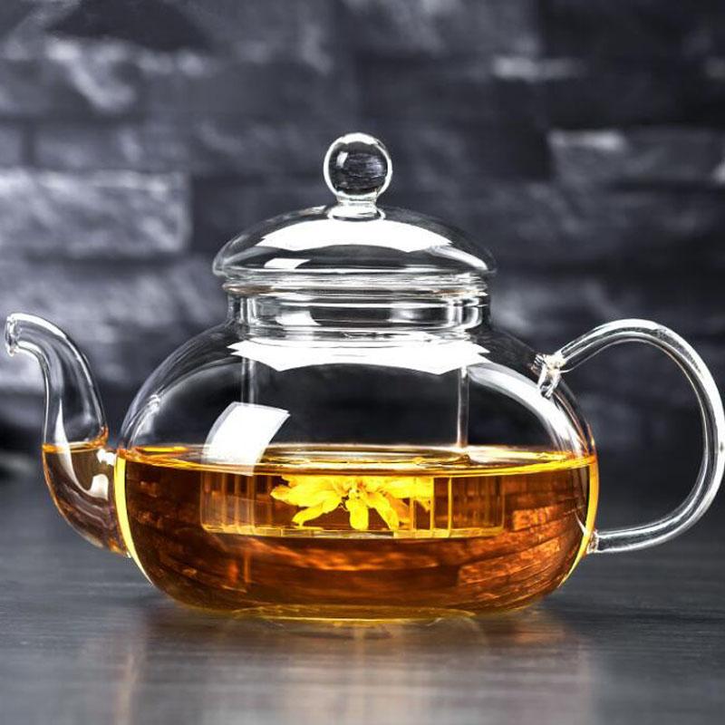 高硼硅耐热玻璃茶具 花茶壶 耐高温玻璃壶 过滤加厚功夫茶壶泡茶