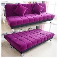 沙发简欧式懒人床出租房折叠沙发床布艺床1.8简易客厅沙发床两用 三人座1.8米长 双抱枕 1.5米以下