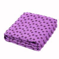 细纤维瑜伽铺巾 防滑瑜伽垫铺巾 加厚加长保暖梅花点瑜伽健身毯