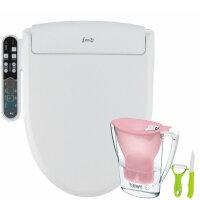 韩国爱真助便IBC3200智能马桶盖洁身器妇洗器卫洗丽座便盖 短款48.5cm