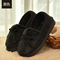 冬季包跟棉拖鞋女厚底防滑月子拖鞋可爱毛毛冬天保暖拖鞋
