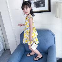 女童夏�b2018新款�n版公主�B衣裙�和�夏季洋�馊棺又写笸�背心裙潮 �S色