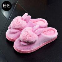 棉拖鞋女可爱厚底包跟居家室内家用保暖防滑拖鞋