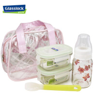 三光云彩Glasslock玻璃扣套装奶瓶套装保鲜盒奶瓶硅胶勺附包BB01 便当盒