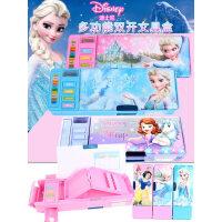 迪士尼文具盒苏菲亚冰雪公主小学生折叠多功能铅笔盒女生笔袋儿童