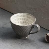 早餐杯微波炉陶瓷杯手绘麦片杯牛奶杯大容量咖啡杯瑕疵杯