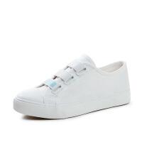 帆布鞋女学生韩版白色布鞋ulzzang女原宿百搭休闲平底板鞋子