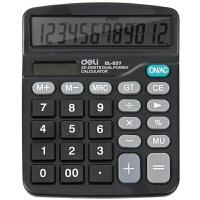 得力计算器837经济型太阳能双电源计算机837ES 热卖款