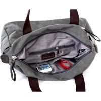 单肩包男士手提包韩版简约旅行包休闲斜挎包学生帆布包大容量 咖啡色 大号