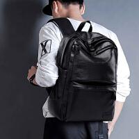 男士双肩包时尚潮流背包皮学生书包大容量韩版休闲旅行电脑商务包