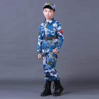 儿童迷彩服演出套装男女中小学生幼儿园夏令营军装少儿军训