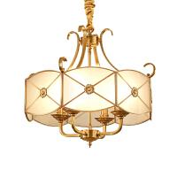 欧式田园吊灯大气客厅灯家用餐厅灯全铜灯简约书房卧室灯具
