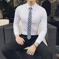 气质衬衣男长袖修身韩版男士衬衣纯色帅气青年商务职业正装寸衫潮